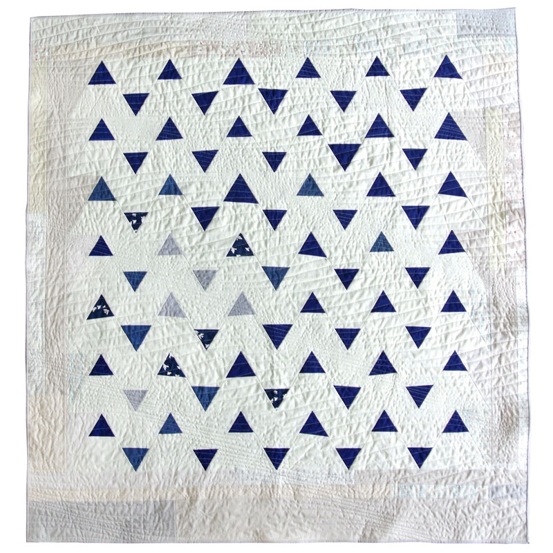 Minimal Triangles Navy Quilt