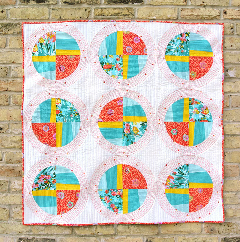Propeller quilt design can be made using the Modern Fans quilt pattern
