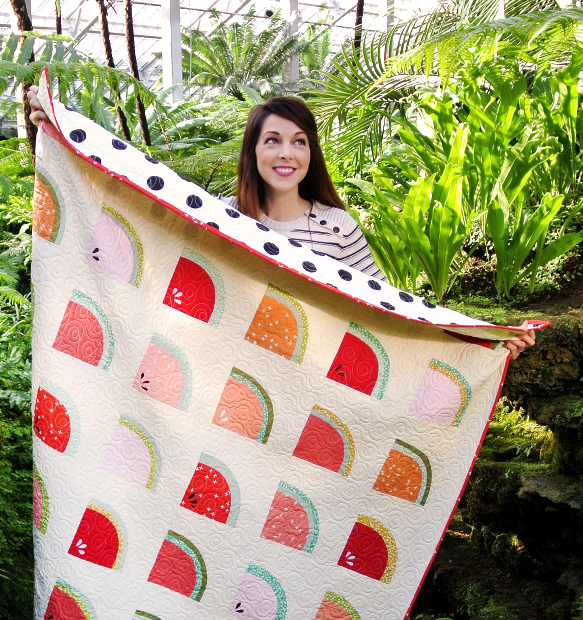 Watermelon Throw Quilt Size