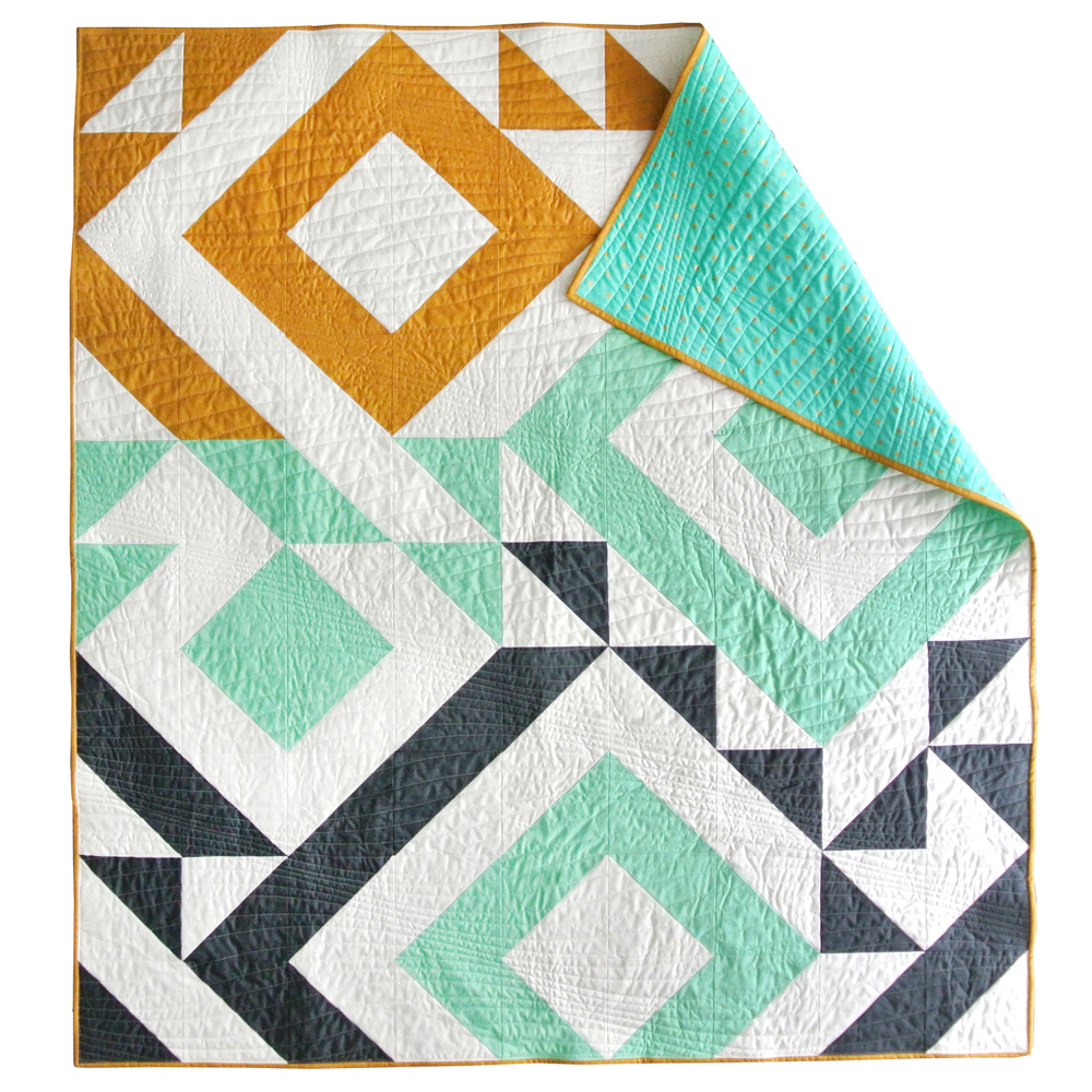 Baby Quilt Patterns.Triangle Jitters Quilt Pattern Download