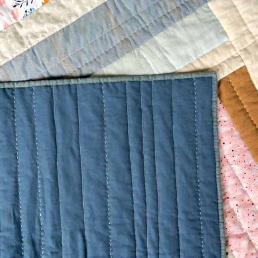 Handmade linen, cotton and wool quilt for sale