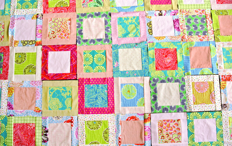 How To Make A Simple Square In A Square Quilt Block Suzy Quilts Interesting Simple Square Quilt Patterns