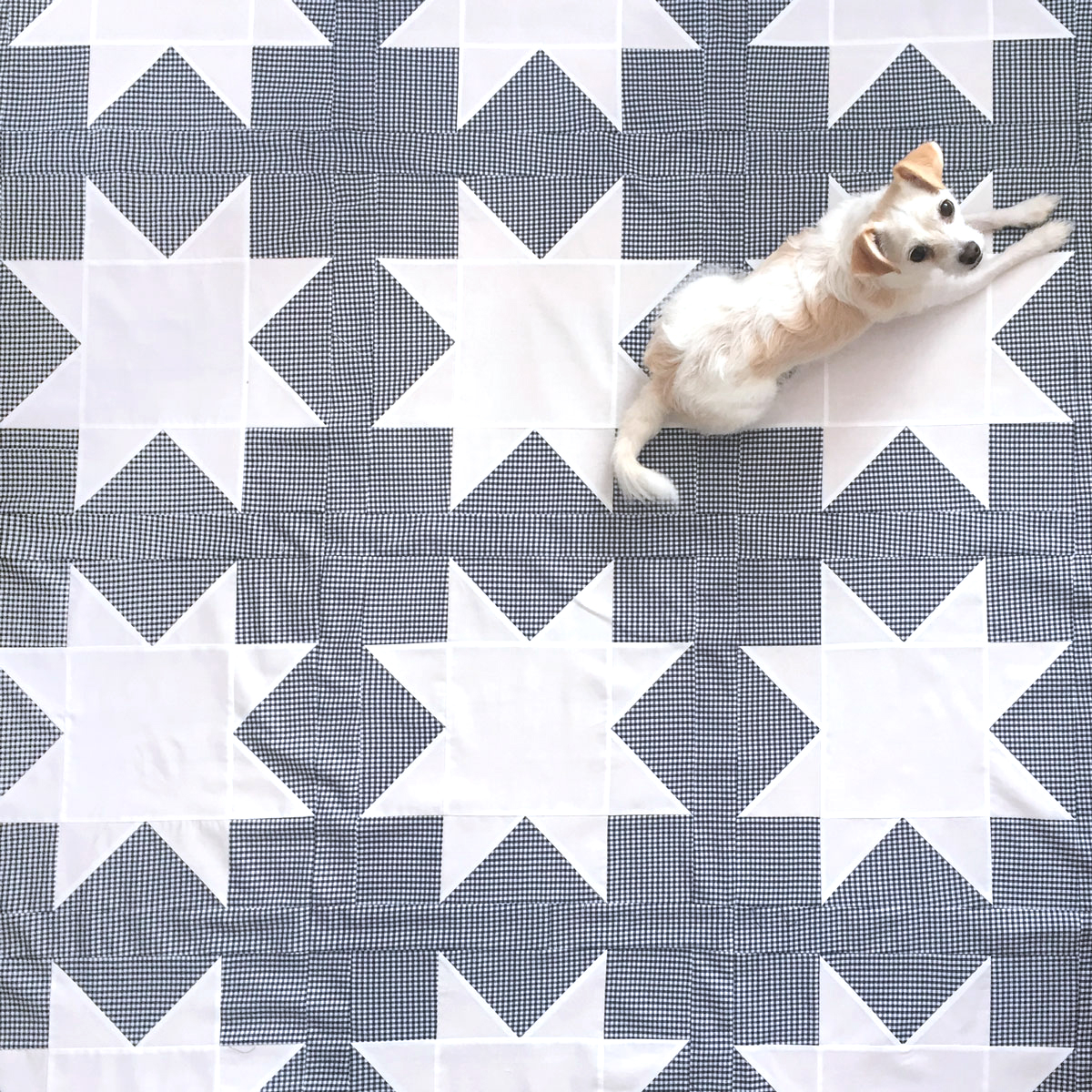 sawtooth star quilt