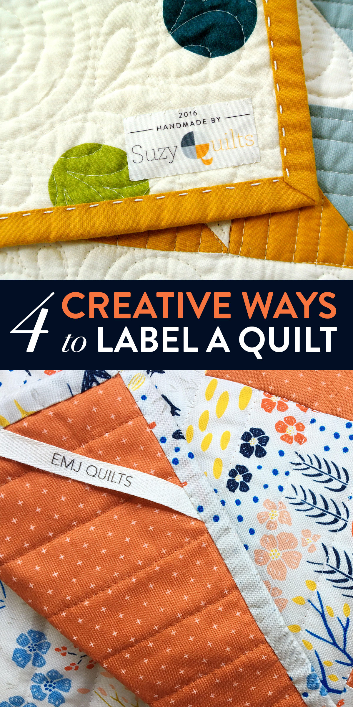 4 Creative Ways to Label A Quilt | Suzy Quilts https://suzyquilts.com/4-creative-ways-to-label-a-quilt