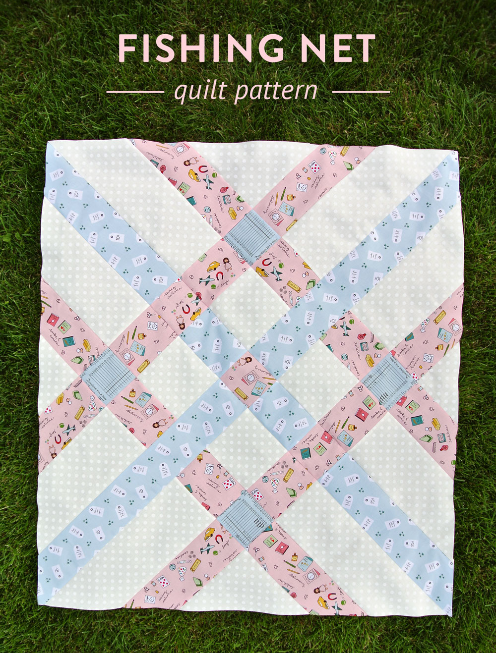 Fishing-Net-Modern-Baby-Quilt-Pattern