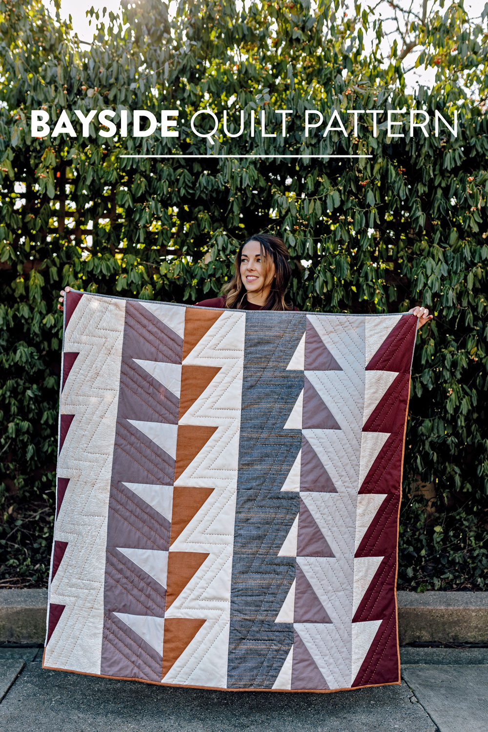 The Bayside Quilt Pattern, Fresh Modern Quilt Design Fabric Inspiration | Suzy Quilts https://suzyquilts.com/bayside-quilt-pattern-video-tutorial