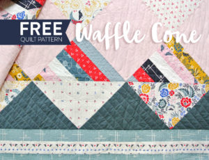 Free-Waffle-Cone-Quilt-Pattern