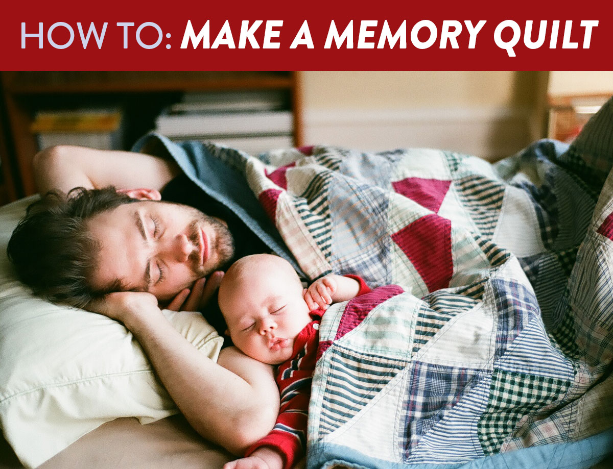 3 Easy Steps To Make A Memory Quilt Suzy Quilts