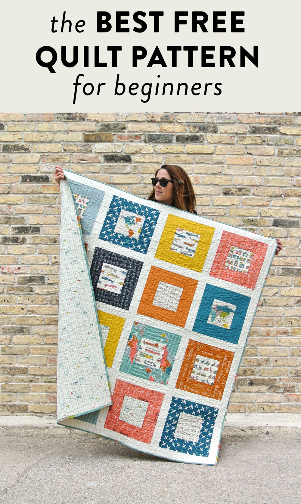 The Best Free Quilt Pattern for Beginners | Suzy Quilts https://suzyquilts.com/make-a-memory-quilt