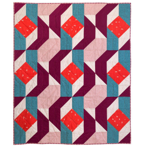 Rocksteady mid century modern baby quilt for sale