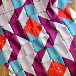 Rocksteady baby quilt making process