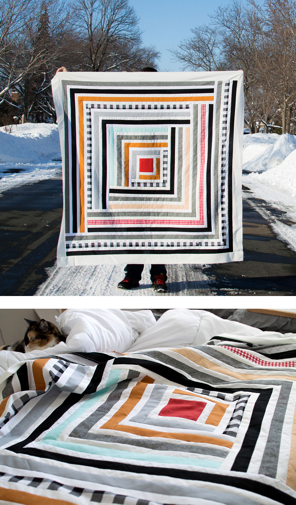 Gingham Stripe Quilt
