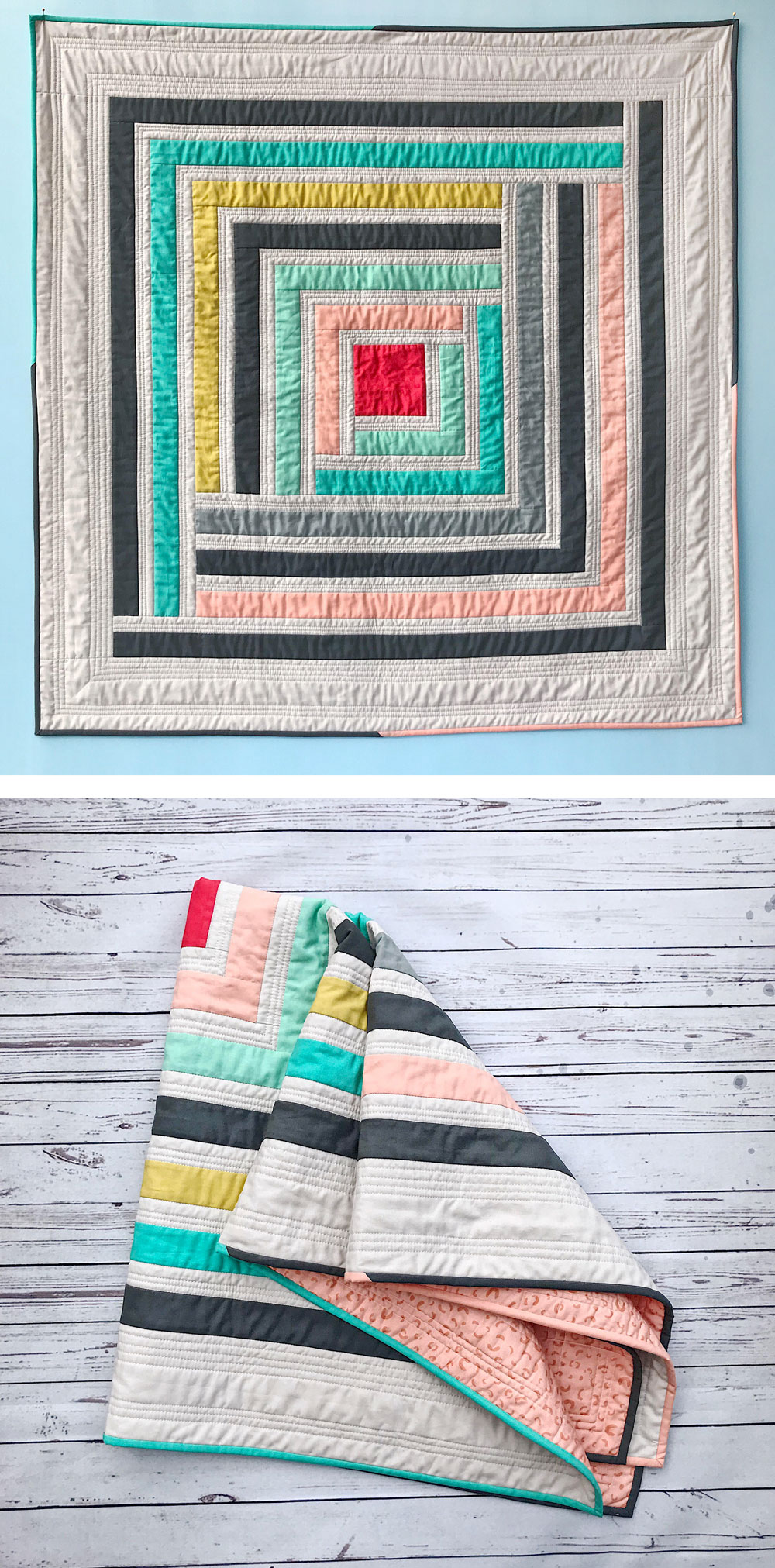 Modern Log Cabin Quilt Pattern