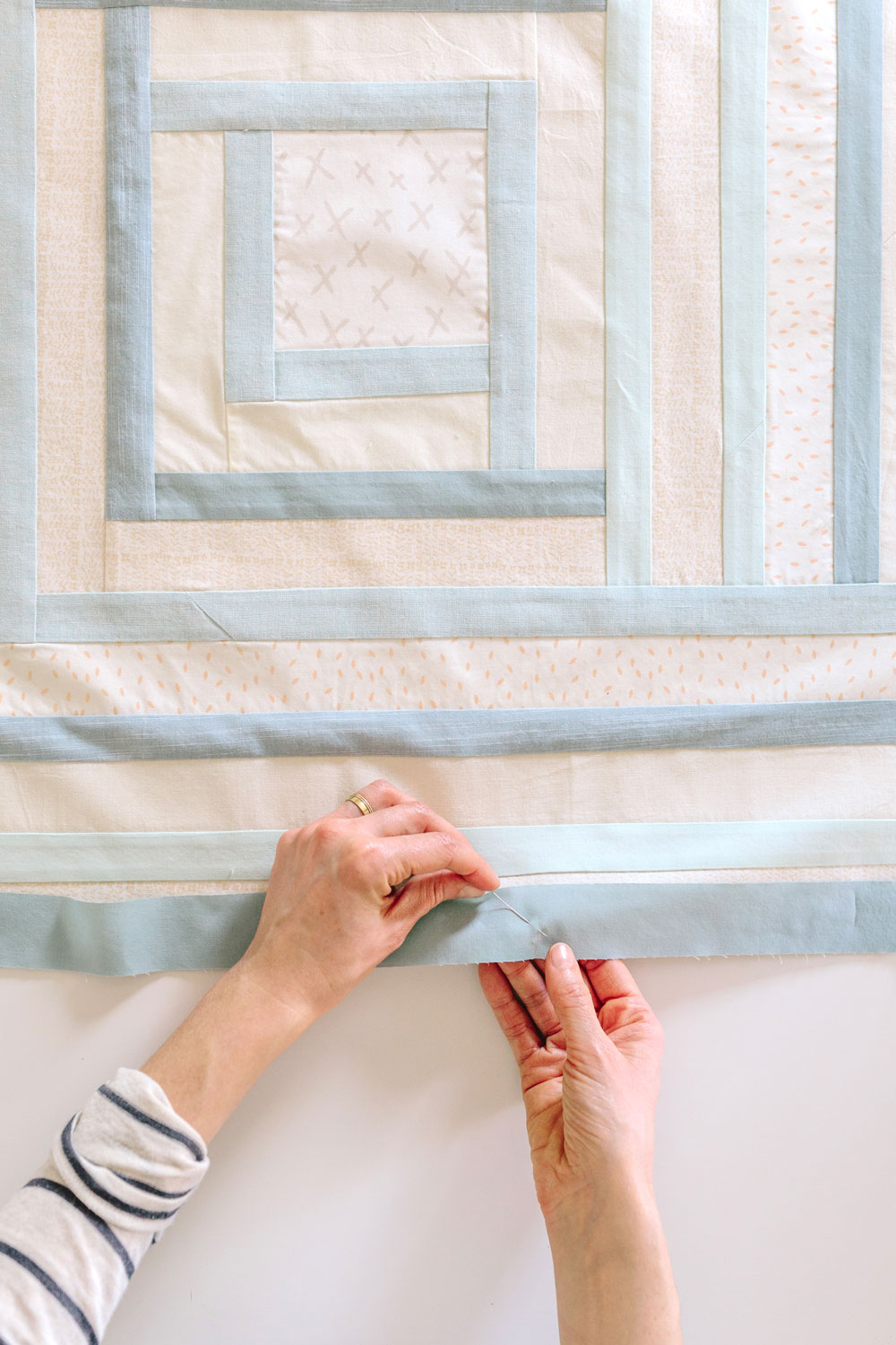 Soft Blue Baby Quilt