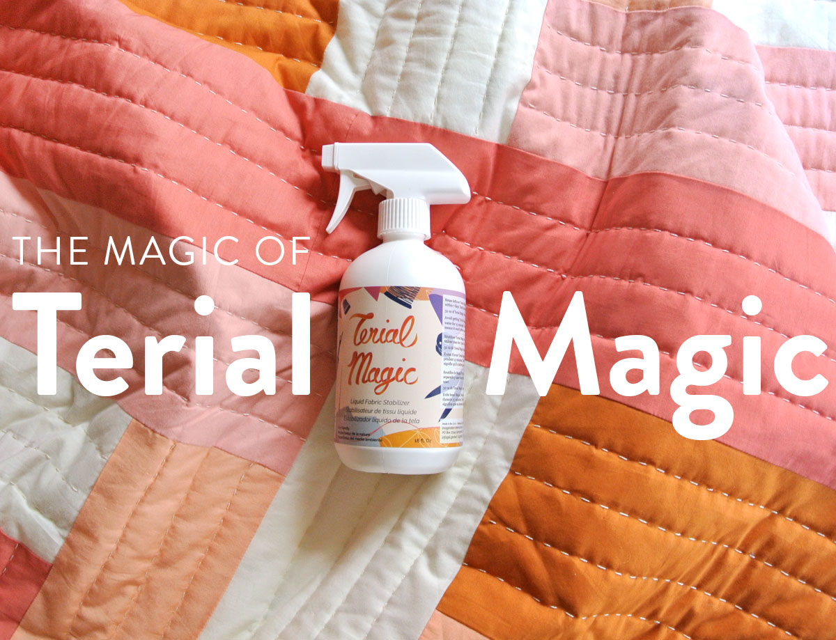 Terial Magic is a stabilizing spray that makes fabric completely stiff, so you can use it like paper! You can even send it through your printer.