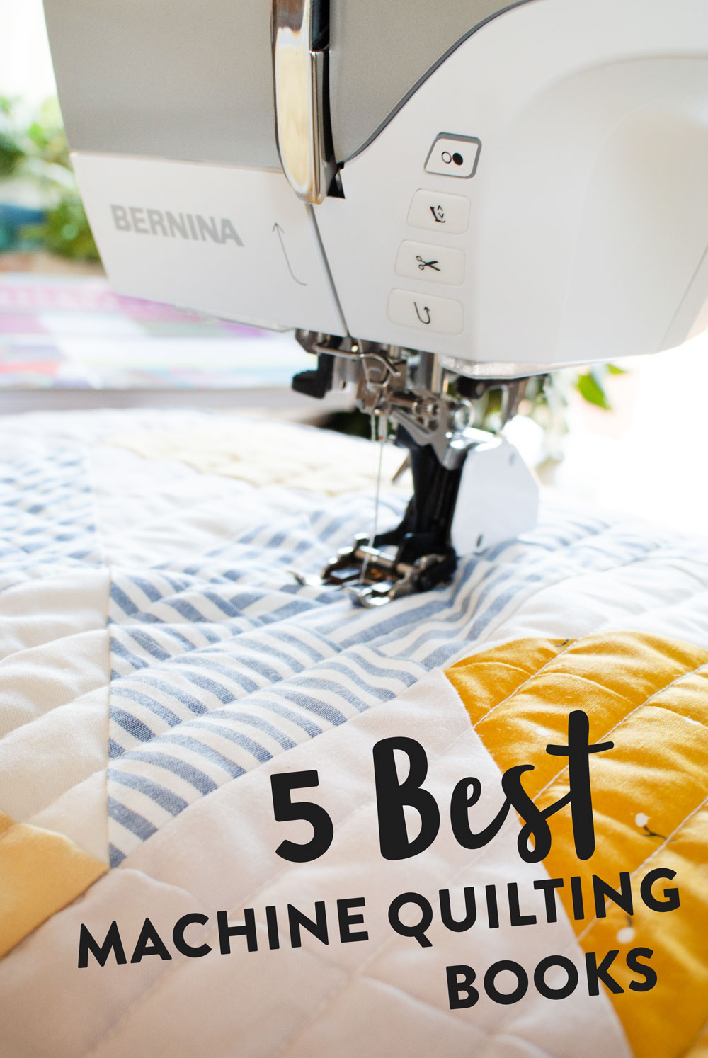 The 5 Best Machine Quilting books to help you jumpstart your skills and allow you to quilt like a pro on your domestic sewing machine at home!