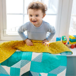 Blue Ombre Baby Boy Quilt for Sale