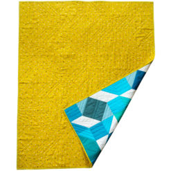 Blue gradient baby quilt for sale