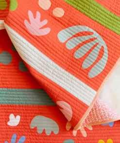 Bohemian Garden Quilt Pattern (Download) This baby quilt uses quilt-weight organic poplin and raw-edge applique