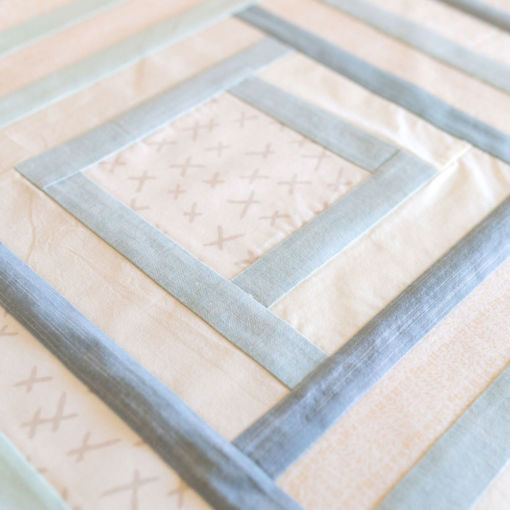 organic flannel handmade baby quilt for sale