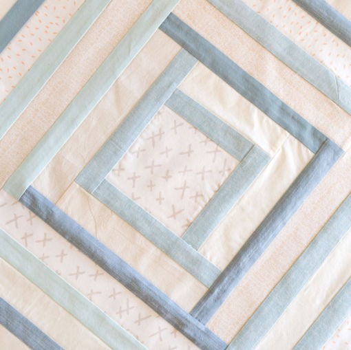 Cozy Flannel baby quilt for sale