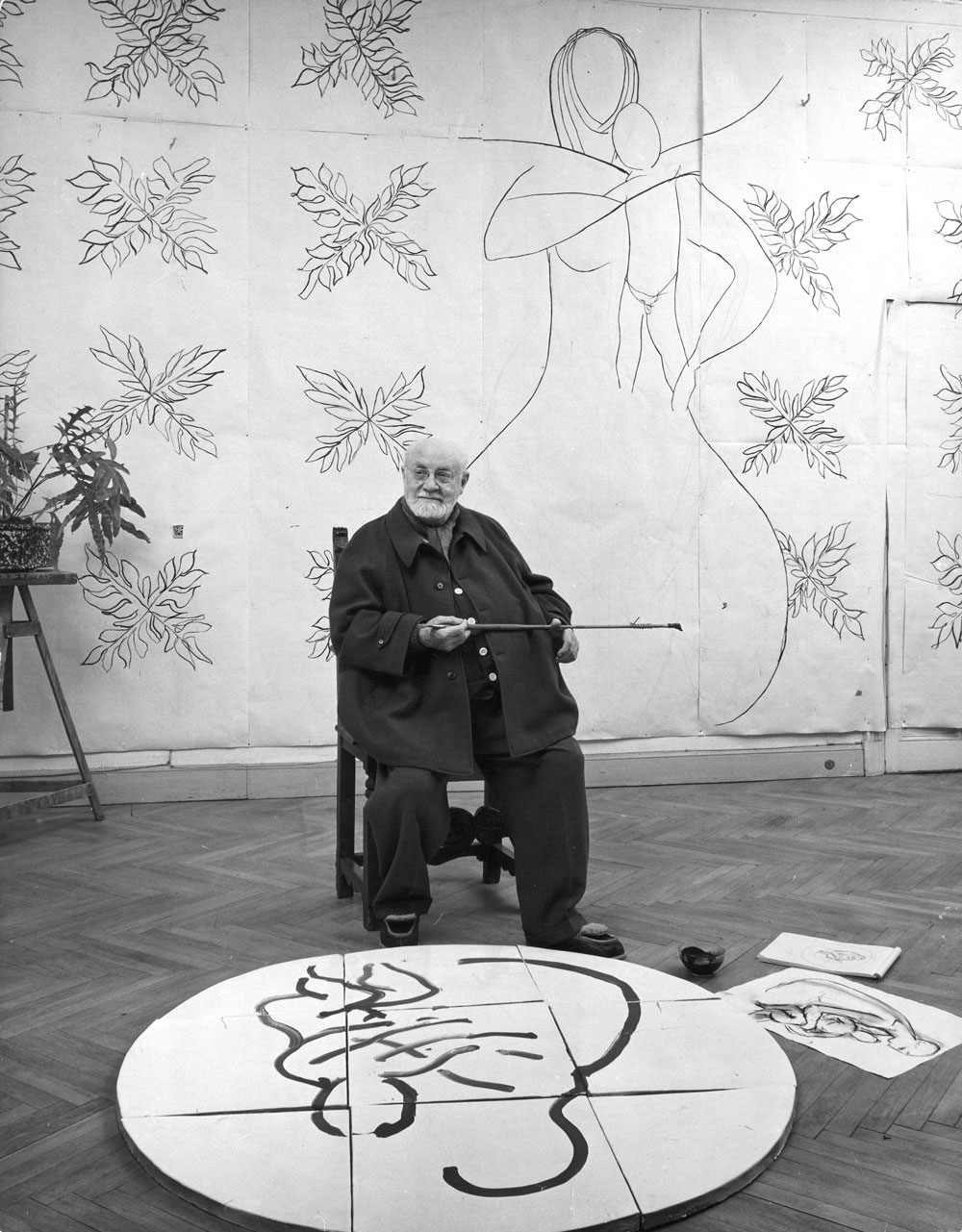 Henri Matisse was wheelchair bound in his later years, but that didn't stop him from creating. It was during this time that he designed his famous paper cut outs.