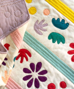 Bohemian Garden Quilt Pattern (Download) This throw quilt is made using 100% organic knit fabric and wool batting. It's incredibly textured and very very fluffy!