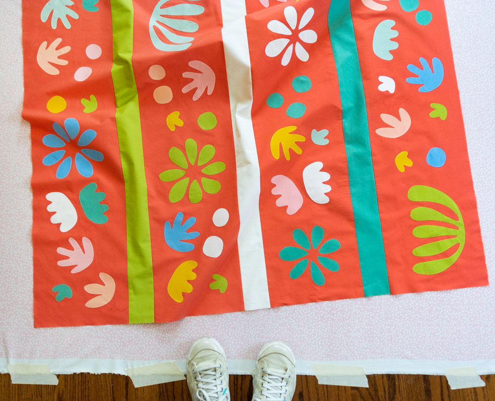 Sewing a Matisse inspired quilt