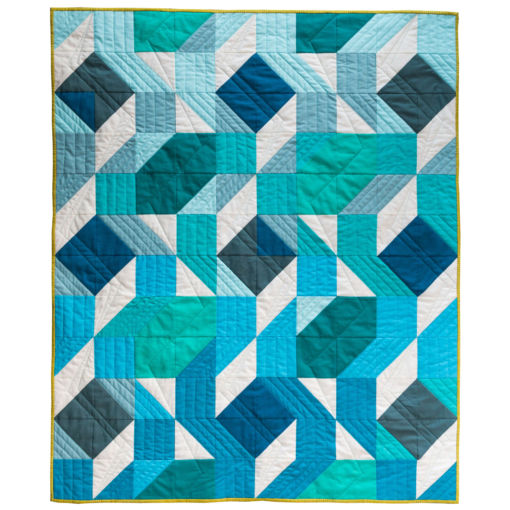 Blue Ombre Baby Quilt for Sale