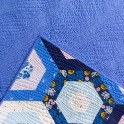 Handmade Periwinkle Hexies Quilt for Sale
