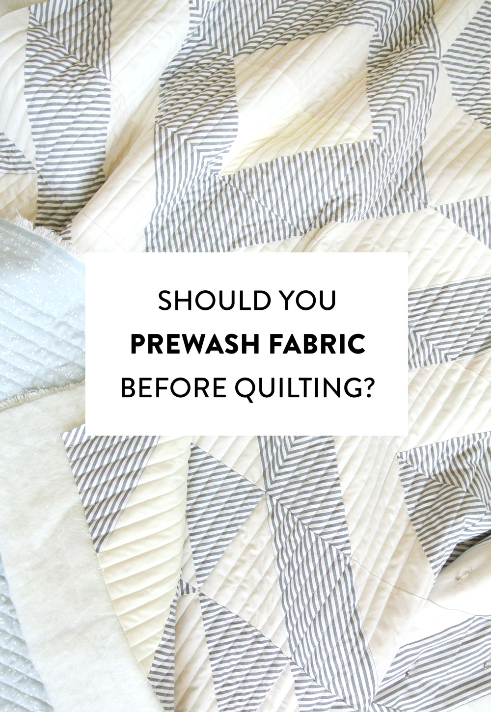 Should you prewash your fabric before quilting? We've listed all of the pros and cons to both prewashing and not prewashing