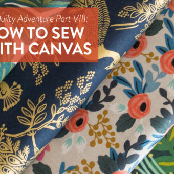 A Quilty Adventure Part VIII: How to Sew with Canvas