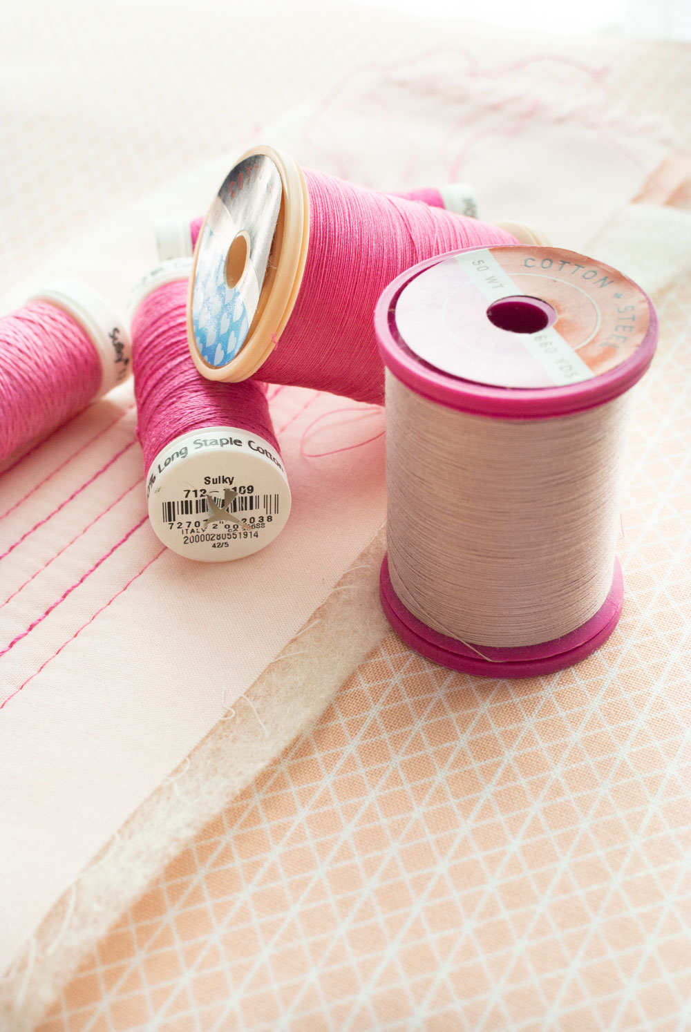 This blog post covers all of the supplies you need for machine quilting with 12 weight thread.