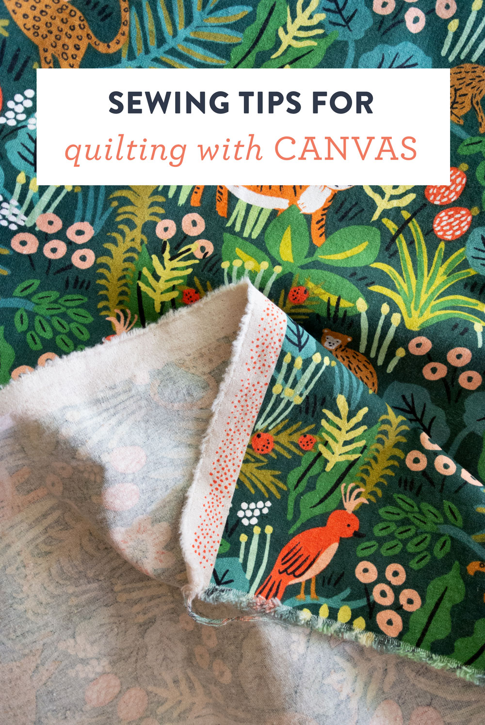 Sew with canvas in confidence! Learn the tricks, tools, and tips for using canvas in your next quilt project.