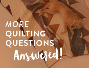 Beginner Quilting Questions are answered in the multi-part blog series! Are you ever confused about what batting to use? Find out the difference between cotton and wool batting!