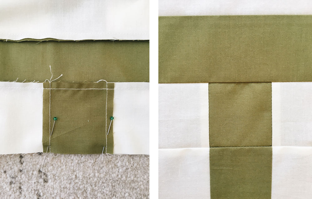 A beginner quilting blog series that answers all of your basic sewing questions. Have you wondered how to pin so your seams always match? Let me show you!
