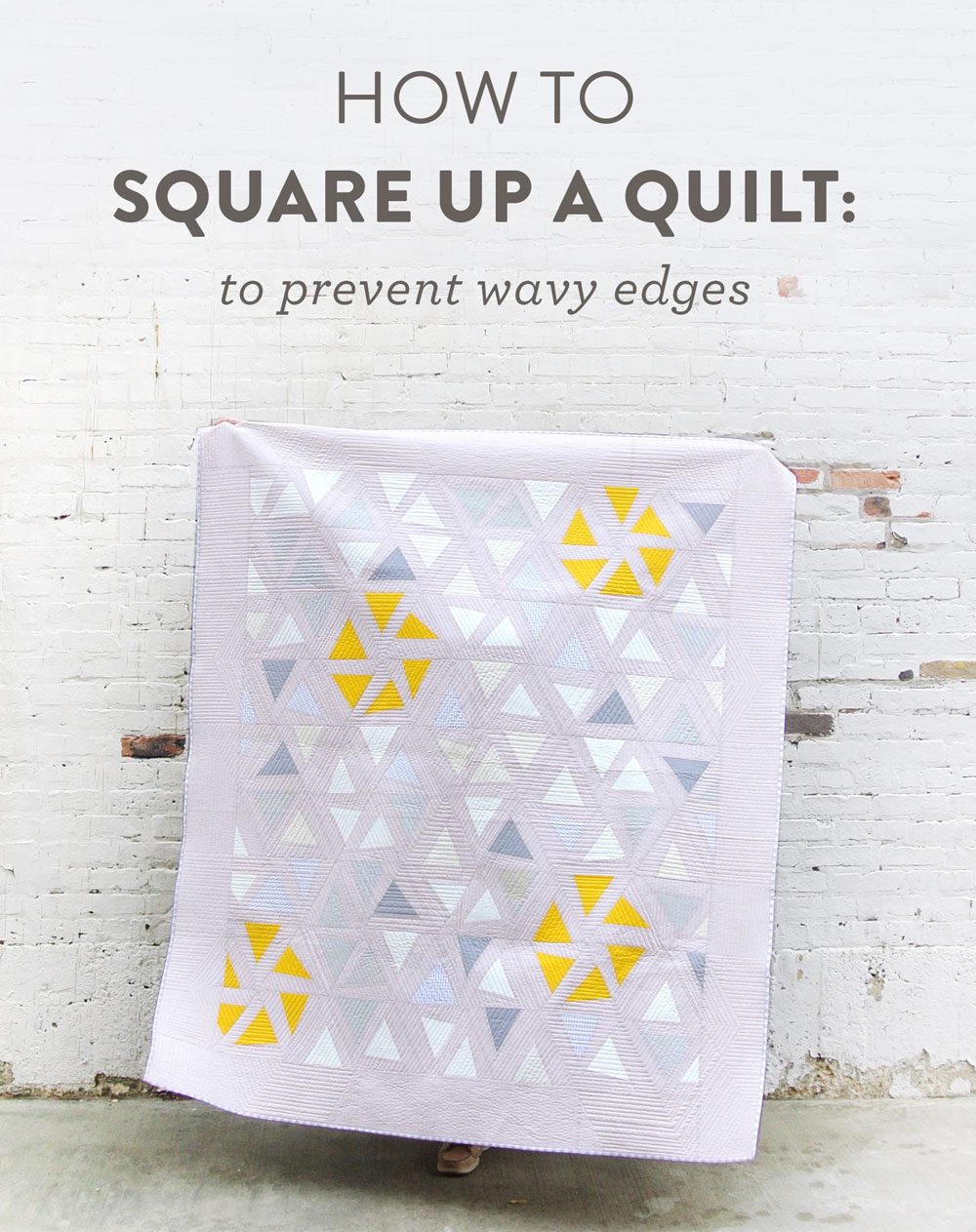 A fun blog series answering all of your basic quilting questions. Have you wondered how to square up a quilt? Let me show you!