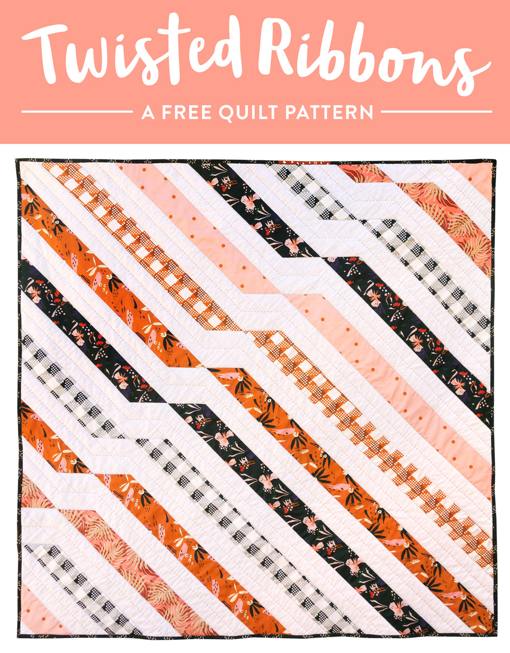 Get the free Twisted Ribbons quilt pattern and use Fill-A-Yard through Spoonflower