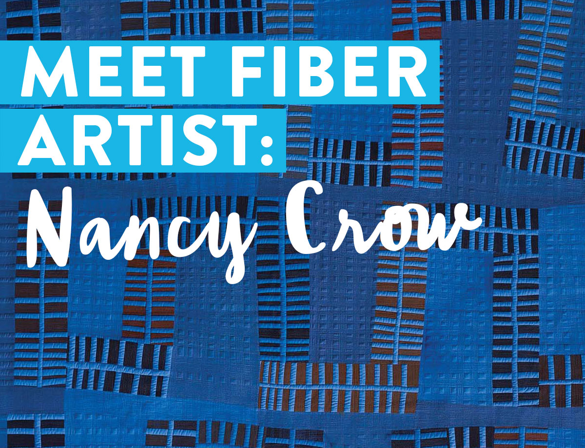 Nancy Crow is a modern quilt pioneer who has inspired generations of artists with her creativity. This quilt is from her Riff series.