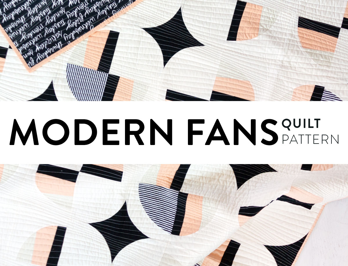 Modern Fans Quilt Pattern Video Tutorial Included Suzy Quilts