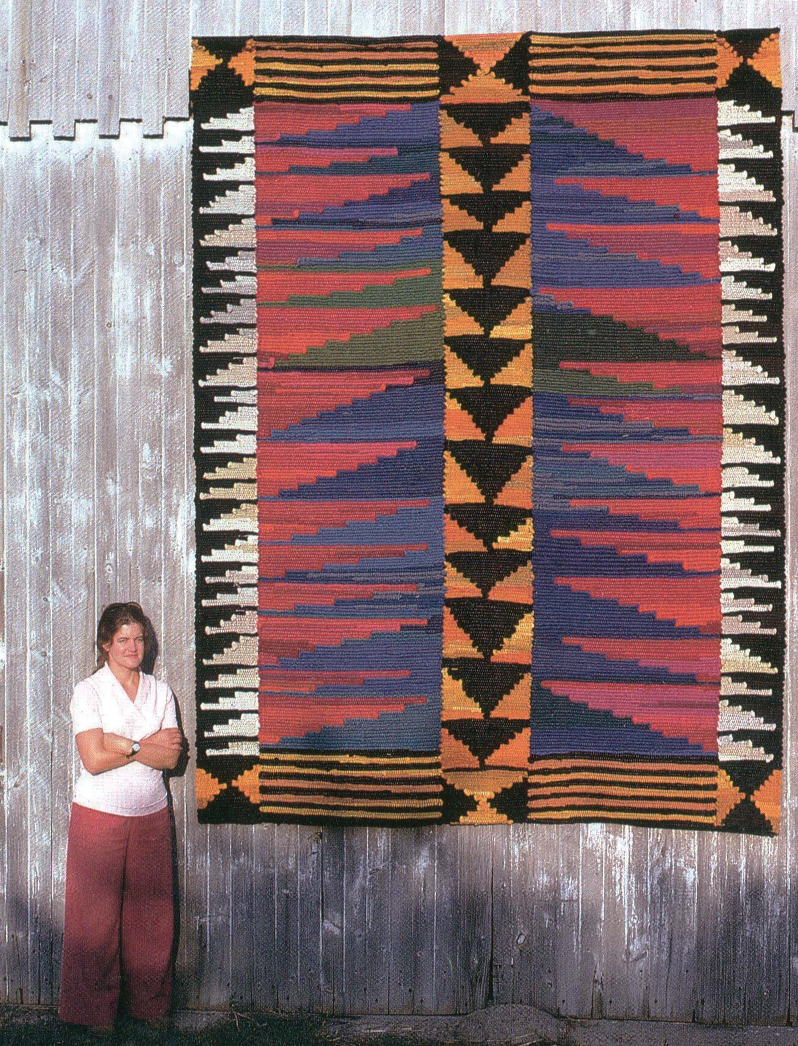 Nancy Crow is a modern quilt pioneer who has inspired generations of artists with her creativity. This picture was taken in 1974.