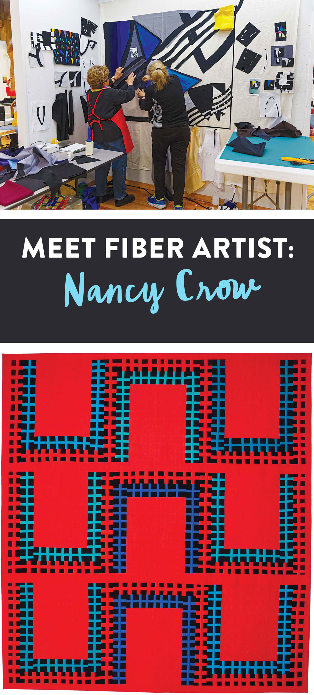 Nancy Crow is a modern quilt pioneer who has inspired generations of artists with her creativity. | Suzy Quilts https://suzyquilts.com/meet-fiber-artist-nancy-crow