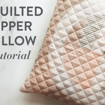 Make a Quilted Zipper Pillow: Photo Tutorial