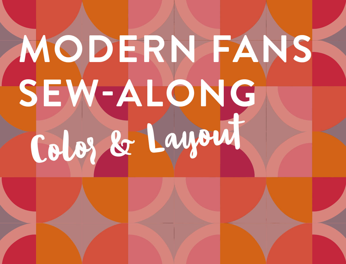 The Modern Fans quilt pattern is incredibly versatile. By rearranging the unique quilt blocks you can make lots of different layouts and designs.