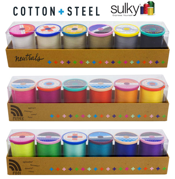 Win a beautiful pack of Cotton and Steel thread during the Modern Fans Quilt Sew Along!