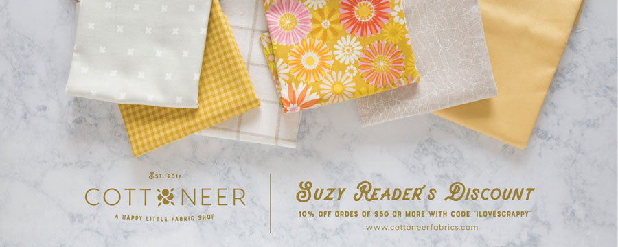 Get 10% off from Cottoneer fabric shop
