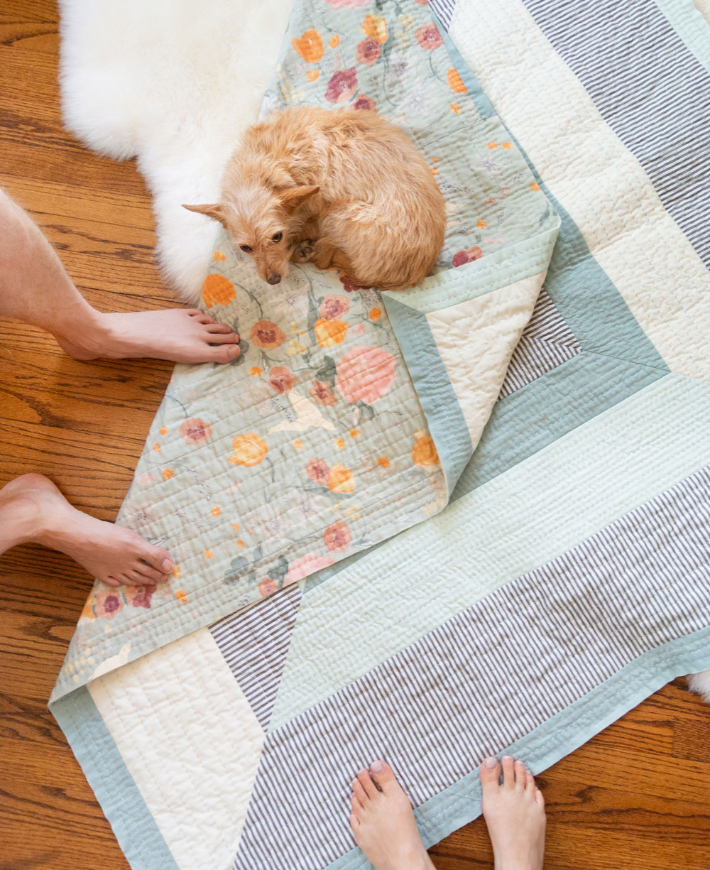 How to hand quilt in 3 easy steps! In this blog and video tutorial I'll list out all of the supplies you need and show you how simple hand quilting can be.