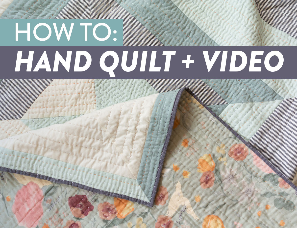 How to hand quilt in 3 easy steps! In this blog and video tutorial I'll list out all of the supplies you need and show you how simple hand quilting can be. Get this Bayside Quilt pattern and make your own!