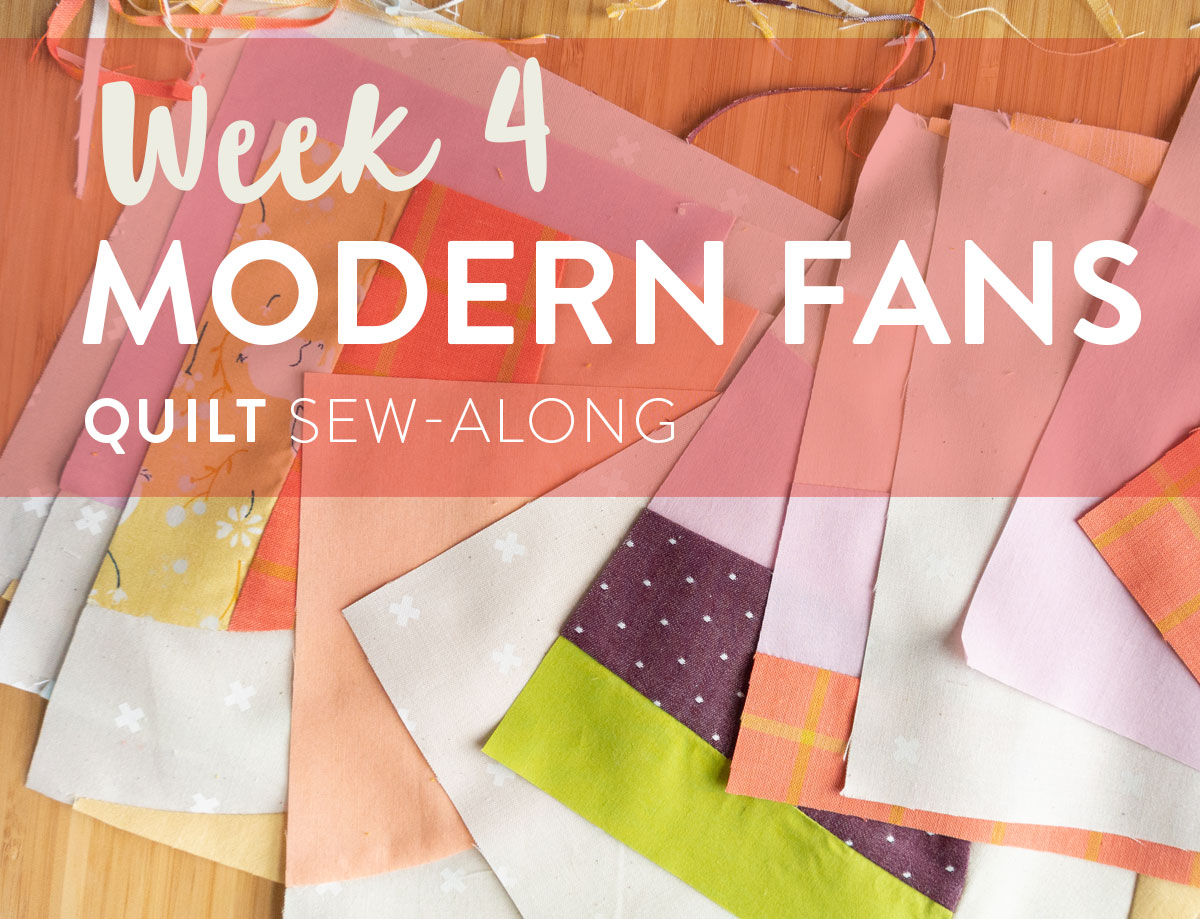 Join the Modern Fans quilt pattern sew-along for a chance to win a BERNINA 350 sewing machine along with other amazing prizes!