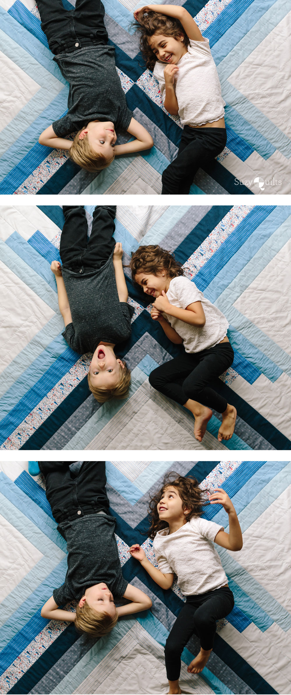 The Sugar POP quilt pattern is a PDF download that includes throw, baby and a pillow size. This modern design works well as a gradient or with fabric scraps. It's also perfect for hand quilting.